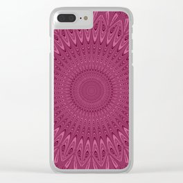Violet red mandala Clear iPhone Case