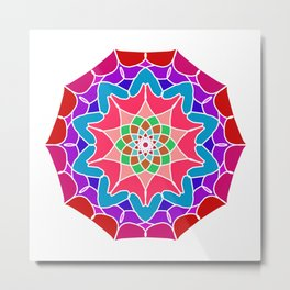 Meditation mandala in energizing colors Metal Print