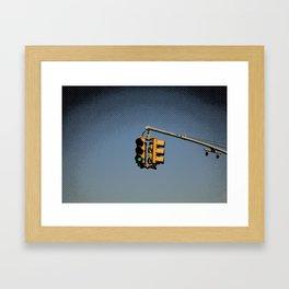 New York City Traffic Lights Framed Art Print
