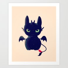 Night Fury Art Print