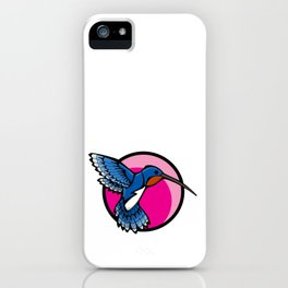 Cute Hovering Hummingbird | Adorable Animal Series | DopeyArt iPhone Case