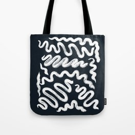 Chalky Squiggle print Tote Bag