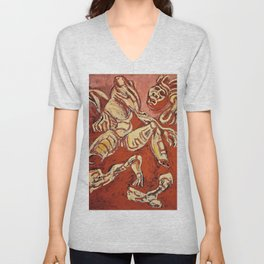 Jose Clemente Orozco - The Dismembered Man, from the Los teules series - Digital Remastered Edition Unisex V-Neck