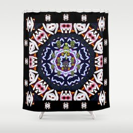 Japan flowers  style and sugar skulls Shower Curtain