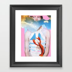 Barely Holding On Framed Art Print