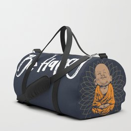 Be Happy Little Buddha Duffle Bag