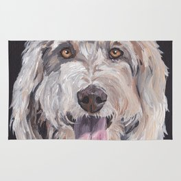 Golden Doodle Art,  Labradoodle art, Doodle dog art Rug