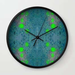 Splashy Butterfly Wall Clock