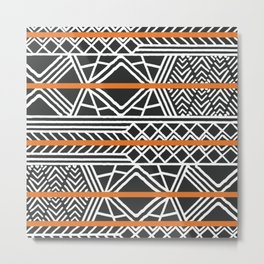 Tribal ethnic geometric pattern 022 Metal Print
