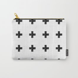 Watercolor Swiss Cross (White) Carry-All Pouch