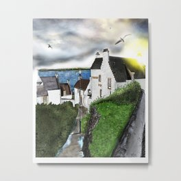 "The ""Hie Gait"" in Dysart, Scotland: Architecture Art Print [Clouds will drift version] Metal Print"