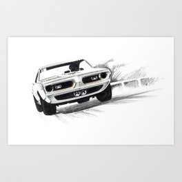 1969 Muscle Car Art Print