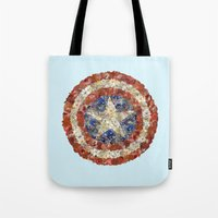 steve rogers Tote Bags featuring Steve Rogers' Garden by Joan-of-here