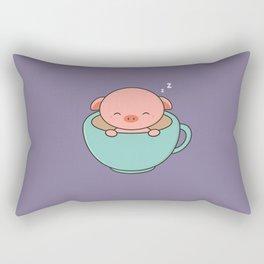 Cute Kawaii Teacup Pig Rectangular Pillow