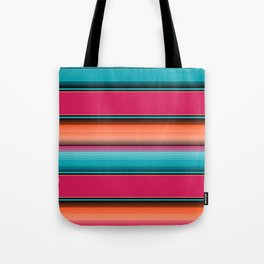 Traditional Mexican Serape in Teal Tote Bag