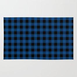 Plaid (blue/black) Rug