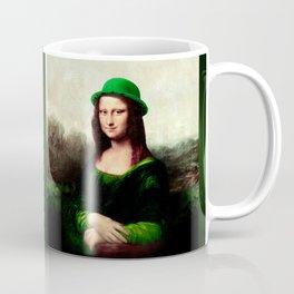Lucky Mona Lisa - St Patrick's Day Coffee Mug