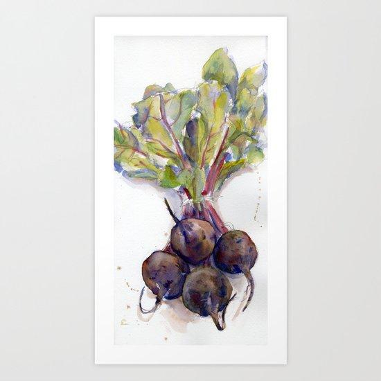 Purple Beets Art Print