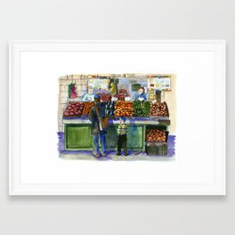 People in the Marketplace Framed Art Print