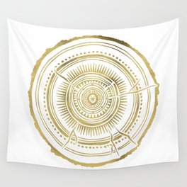 Quaking Aspen – Gold Tree Rings Wall Tapestry