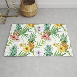Tropical pineapple pattern Rug