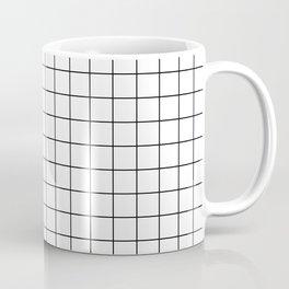 Black and White Thin Grid Graph Coffee Mug