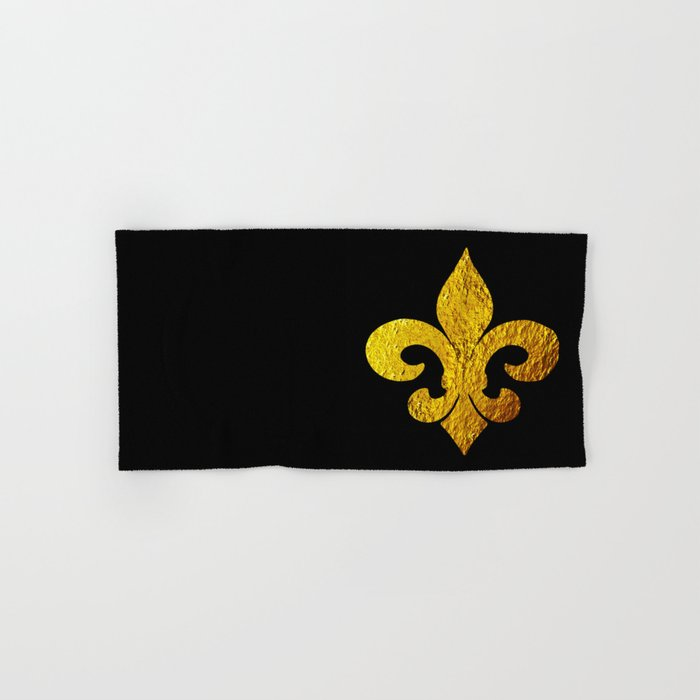 Fleur De Lis Hand Bath Towel By Cholewess Society6
