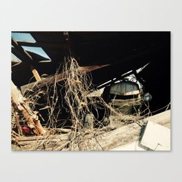 Abandoned Tracker (Color) Canvas Print