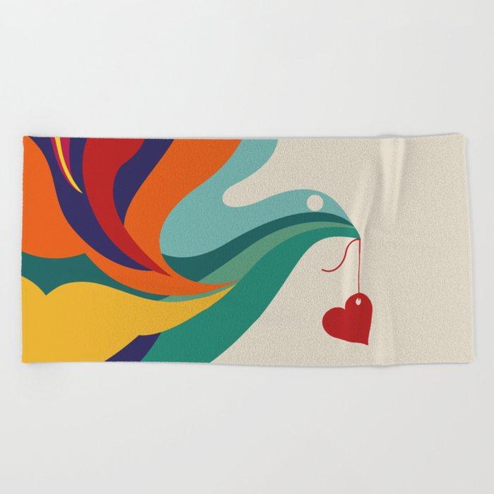 Love Message Beach Towel