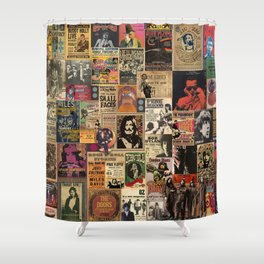Rock n' Roll Stories revisited Shower Curtain