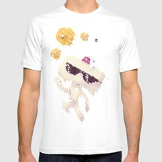 Hexahedrons SMALL White Mens Fitted Tee