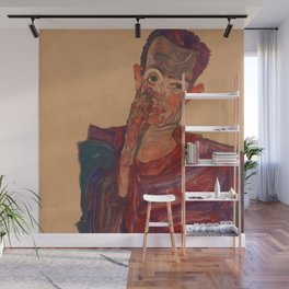 "Egon Schiele ""Self-Portrait with Eyelid Pulled Down"" Wall Mural"