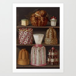 French 1873 Culinary Lithograph pastry confectionery Art Print