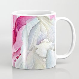 Pink and white oleanders floral close-up pattern Coffee Mug