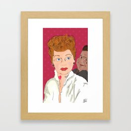 Lucy and Ricky Modern Framed Art Print