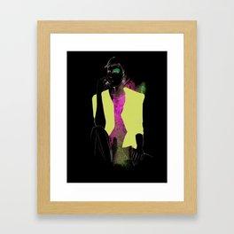 violet/green Framed Art Print