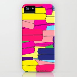 Colours are brighter when the mind is open. iPhone Case
