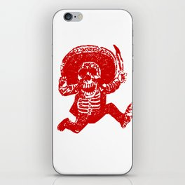 Pirate Skeleton Holding Dagger iPhone Skin