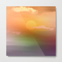Sunrise  and sky. Metal Print
