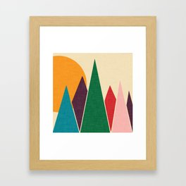 solar mountain #homedecor #midcentury Framed Art Print