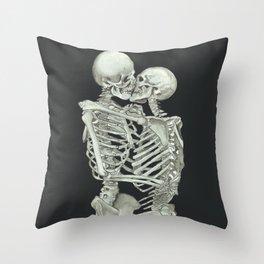 Valentine's Day: Skeleton Kiss Throw Pillow