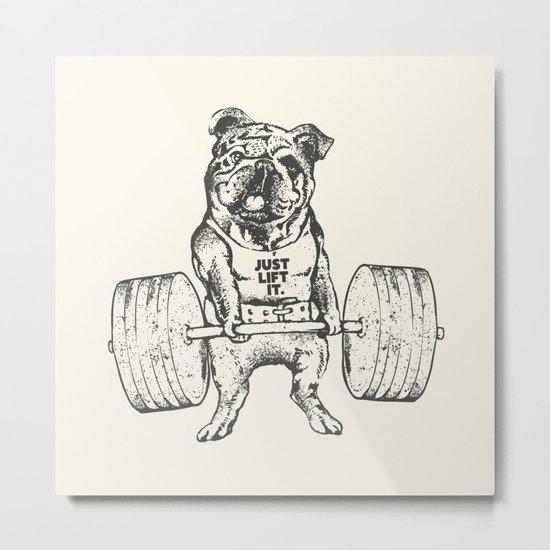 English Bulldog Lift Metal Print