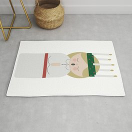 Cartoon girl with candles at Saint Lucy at Christmas Rug