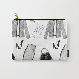 Monday Fashion Illustration Outfit Carry-All Pouch