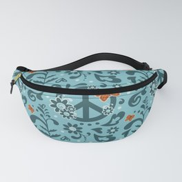 Peace, Love, and Garden  |  Cool, Blue Fanny Pack