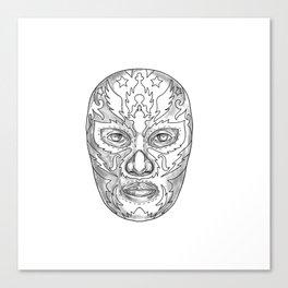 Lucha Libre Mask Tattoo Canvas Print