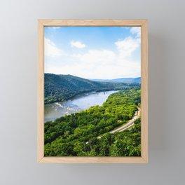 Weaverton Cliff Overlook (Portrait) Framed Mini Art Print