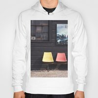 posters Hoodies featuring Seats outside Heritage Posters by RMK Creative