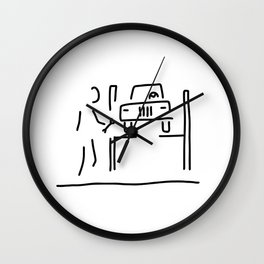 vehicle mechanic car Wall Clock