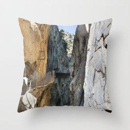 Caminito del Rey - Spain Throw Pillow